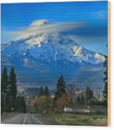 Good Morning Mount Hood Wood Print