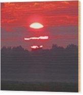Dawn At Old River Wood Print