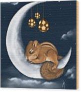 Good Night Wood Print
