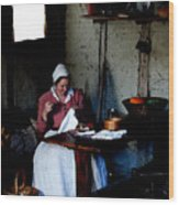 Good Pilgrim Wife Wood Print