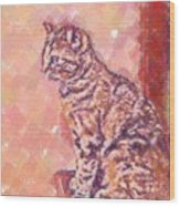 Good Tabby Wood Print
