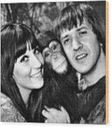 Good Times, Cher, Sonny Bono, On Set Wood Print