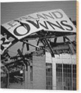 Goodbye Cleveland Stadium Wood Print