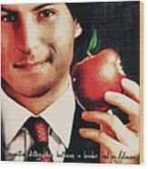 Goodbye Steve Jobs Wood Print