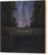 Goodnight Acadia Wood Print