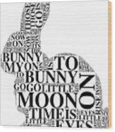 Goodnight My Bunny Wood Print