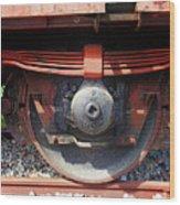 Goods Wagon Wheel Wood Print