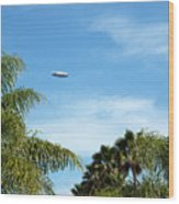 Goodyear Blimp Spirit Of Innovation In Florida Wood Print
