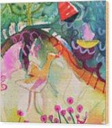 Goose At The Lake Wood Print