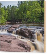 Goose Berry River Rapids Wood Print