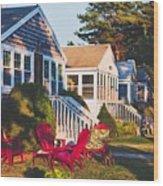 Goose Creek Beach Cottages Wood Print