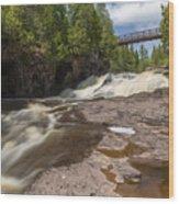 Gooseberry Fifth Falls 9 Wood Print