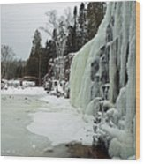 Gooseberry Frozen Falls Wood Print