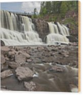 Gooseberry Middle Falls 24 Wood Print