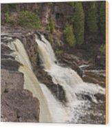 Gooseberry Middle Falls 26 Wood Print