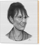 Gop Vp Candidate Sarah Palin Wood Print