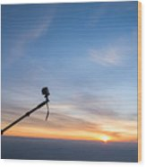 Gopro Action Sport Camera On A Boom Wood Print