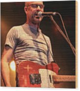 Gord Downie With Telecaster Wood Print
