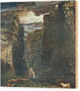Gordale Scar Wood Print