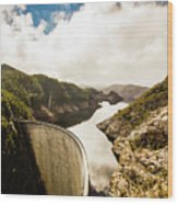 Gordon Dam Tasmania  Wood Print