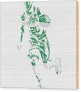 Gordon Hayward Boston Celtics Pixel Art 10 Wood Print