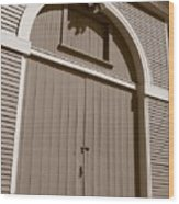 Gore Barn Door Wood Print