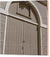 Gore Barn Door Wood Print