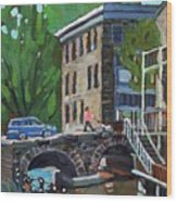Gore Street Bridge Wood Print