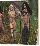 Gorean Girls Wood Print