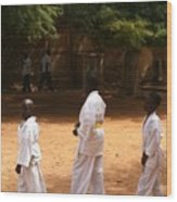 Goree Karate  Wood Print by Fania Simon