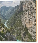 Gorge Du Verdon Wood Print