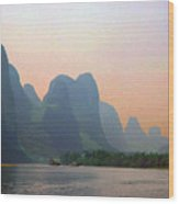 Gorge Of The Li River Wood Print