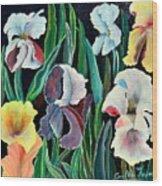 Gorgeos Iris Wood Print