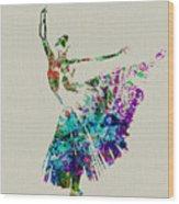 Gorgeous Ballerina Wood Print by Naxart Studio