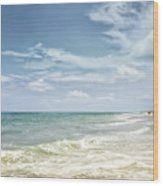 Gorgeous Day At The Seashore Wood Print