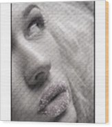 Gorgeous Girl With Sugar On Her Lips Wood Print