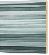 Gorgeous Grays Abstract Interior Decor II Wood Print