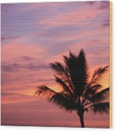 Gorgeous Hawaiian Sunset - 1 Wood Print