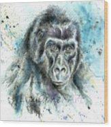 Gorila2 Wood Print