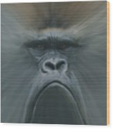 Gorilla Freehand Abstract Wood Print