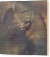 Gorilla In The Mist Wood Print