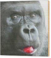 Gorilla Loves Jello Wood Print