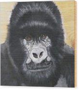 Gorilla On Wood Wood Print