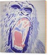 Gorilla Roars Wood Print