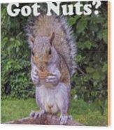 Got Nuts? Wood Print