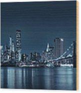 Gotham City Skyline Wood Print