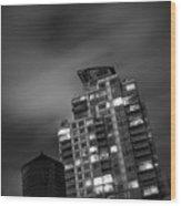 Gotham Rooftop Wood Print