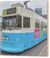 Gothenburg City Tram Wood Print