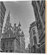 Gothic And Modern In Brussels Wood Print
