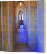 Gothic Arch Hall Wood Print